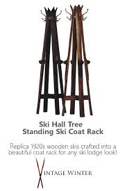 Standing Ski Coat Rack Inspiration Ski Hall Tree Standing Ski Coat Rack Ski Lodge Cabin Chalet