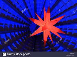 Herrnhut Stern Weihnachten Dekoration Stockfoto Bild