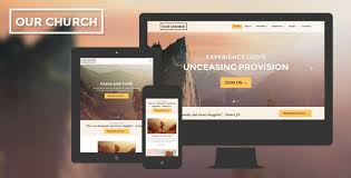 Church Website Templates Gorgeous Church Website Template Responsive Our Church By Surjithctly