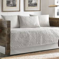 day bed cover. Delighful Cover Tommy Bahama Nassau Scrollwork White Cotton 5piece Quilted Daybed Cover Set And Day Bed O