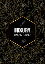 Black Flyer Backgrounds Luxury Flyer Brochure Card Design Black And Gold Background