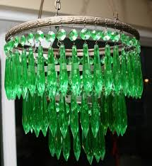 early 20th century uranium green chandelier