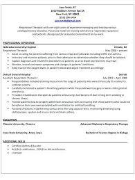 Respiratory Resume Cool Resume Sample Respiratory Therapist Resume Sample Playcineorg