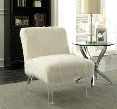 Faux Fur Chair Coaster Accent In Dining Throw59