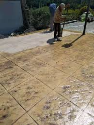 china colored concrete patio per