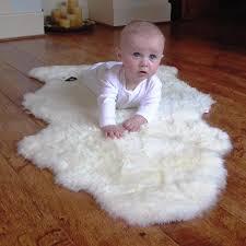 sheepskin baby rug