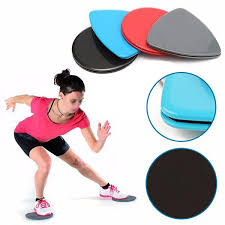 1 pair fitness gliders sliding discs ab workout gym home body exercise