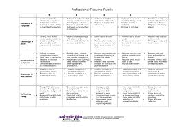 Resume Rubric For Students Grading Writing High School And Cover
