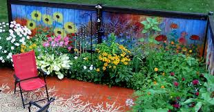 I Revived Our Old Garden Fence By Painting Vivid Flowers On It | Bored Panda