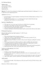 Sample Salesperson Resume Salesperson Resume Sample Car Salesman Oliviajane Co