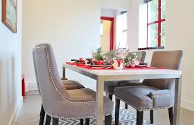 fabric dining chairs with nailheads. chairs, grey fabric dining chairs gray with nailheads how to clean your h