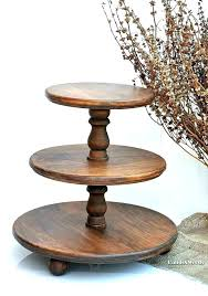 three tier tray wooden three tier tray 3 tier wood stand