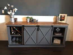 console table sliding barn door buffet sideboard coffee end with full size ana white diy projects