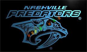 Nashville Sign Decor LD100 Nashville Predators LED Neon Light Sign home decor craftsin 39