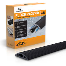 Office cable covers Carpet Details About Floor Cable Cover Ft Black Duct Cord Protector Covers Cables Cords Or Ebay Floor Cable Cover Ft Black Duct Cord Protector Covers Cables