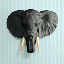 elephant head wall decor elephant head wall hanging living room wall decorations background wall ornaments animal