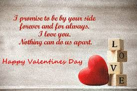 Valentines Day Quotes For Girlfriend Valentines Day Quotes I promise to be by your side forever and for 55