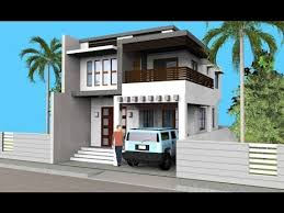 small modern 2 level house with