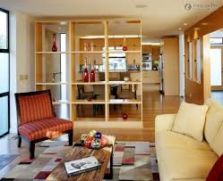 kitchen living room divider ideas with leaving room and dining table also wooden divider