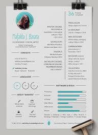 Beautiful Creative Colorful Designer Cv Resume By Mafalda J Barata