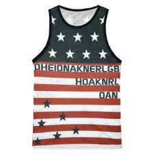 Fashion Mens Casual Printed The Old Glory Independen Sleeveless Tank Top Blouse