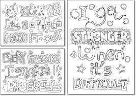 Printable Growth Mindset Coloring Pages For Kids