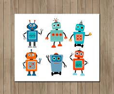 robot art instant download art nursery by tracyannprintables on robot nursery wall art with baby boy nursery print art robot nursery decor robot nursery