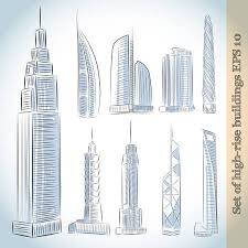 modern architecture skyscrapers sketches. Interesting Modern Building Icons Set Of Modern Skyscrapers Isolated Sketch Stock Vector   27132447 Inside Modern Architecture Skyscrapers Sketches R