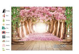 Cherry Blossom Backdrop Spring Pink Cherry Blossom Forest Indoor Photography
