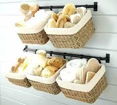 hanging wall baskets wall wicker baskets bathroom wall towel rack wicker basket towel storage baskets wall