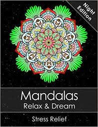 Amazoncom Mandala Colouring Book For Adults Relax Dream Night