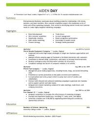 Marketing Resume Examples Printable Marketing Resum
