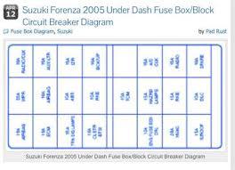 2006 suzuki forenza fuse box diagram wiring diagrams best solved fuse box i bought my 2005 suzuki forenza used it fixya suzuki sx4 engine diagram 2006 suzuki forenza fuse box diagram