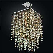 mother of pearl shell chandelier with crystals cityscape 598p