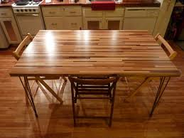 round butcher block dining room table