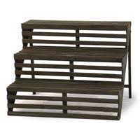 Stall Display Stands Wooden Four Step Plant Display Stand 100 Visual Merchandising 20