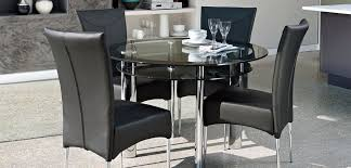 harvey s boat round glass dining table with four marilyn chairs ono