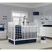 Small Picture Nautica Kids Mix Match Crib Bedding Collection in Navy Bed