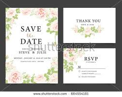 Wedding Invitation Card Template Save The Date Wedding Invitation Card Design With Flower Download
