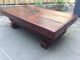 jarabosky solid hagar rectangular coffee table made from jarrah sleeper dining uk