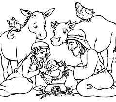 Free Printable Nativity Coloring Pages Nativity Coloring Pages Free