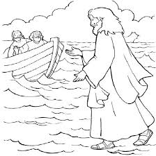 Bible Coloring Pages Jesus Walking On Water Coloring Page Of Jesus