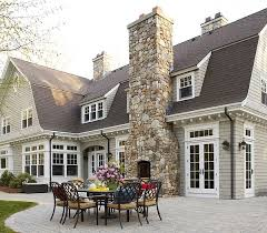 outdoor fireplaces are an intimate cozy and beautiful addition to any home it s a great idea for homes that already have a chimney