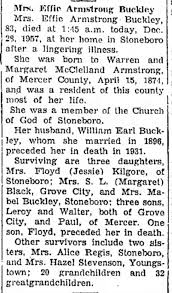 Effie Armstrong Obituary - Newspapers.com