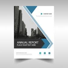 abstract annual report brochure template free vector