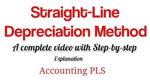 Straight Line Depreciation Equation How To Calculate Straight Line Depreciation Method Youtube
