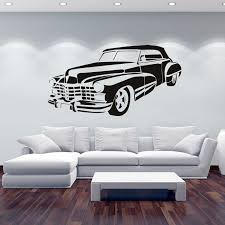 classy ideas car wall art sticker cadillac metal stickers for nursery uk picture 3d big 50s