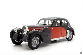 Red oldtimer classic car bugatti typ 57 of 1935, 135 ps, 3257 ccm, 8 zyl. 1935 Bugatti Type 57 Oldtimer Zu Verkaufen
