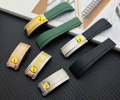 Quality Green Black 20mm Silicone Rubber Watchband Watch Band ...