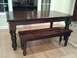 extendable table with matching bench using osborne table legs diy dining table